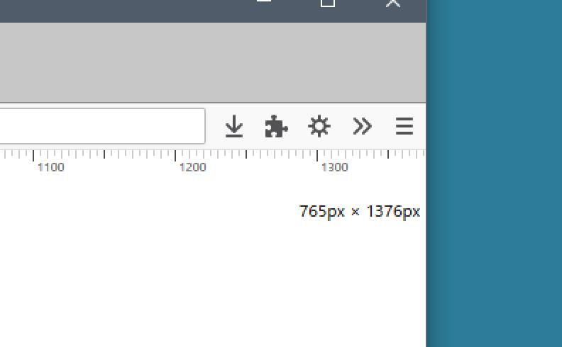 Firefox:現在の画面サイズを確認したい