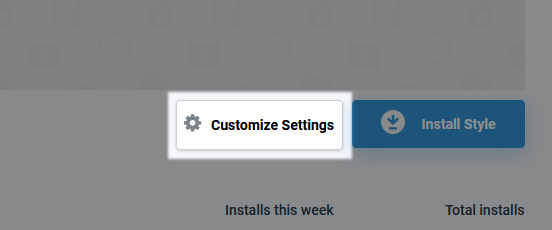 userstyles.org Customize Settings