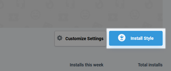 userstyles.org Customize Settings Install Style