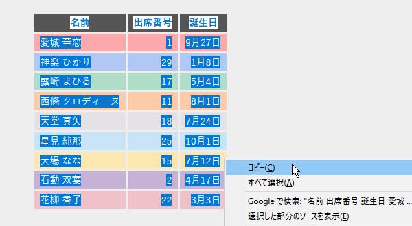 エクセル:HTMLの表を取り込む方法