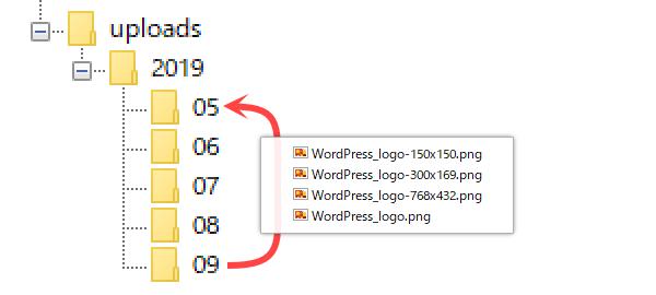 WordPress:後日追加する画像の保存場所(年月)を指定したい