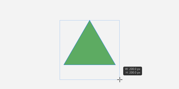 Affinity Photo:正三角形は「三角形」ツールで描けない