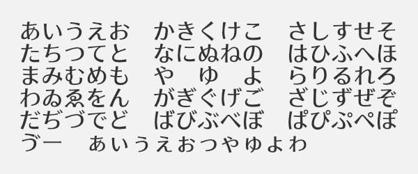源暎ラテゴ/ラテミン フォントサンプル