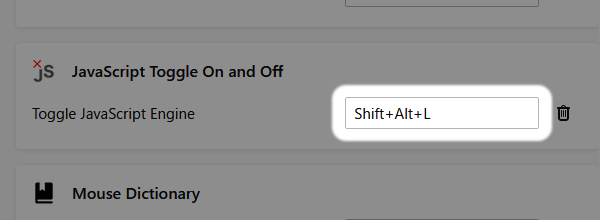 Firefox: アドオンのショートカットキーを変更する