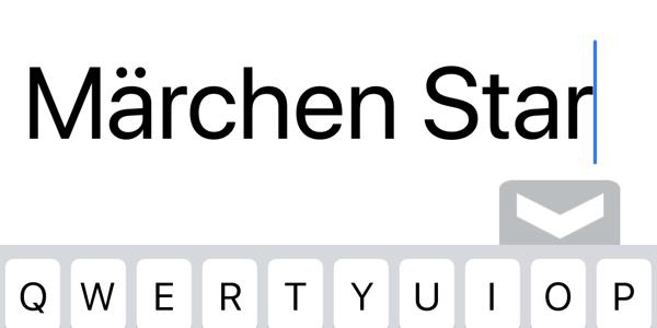 「Märchen(メルヘン)」の「ä」を iPhone, PC で入力したい