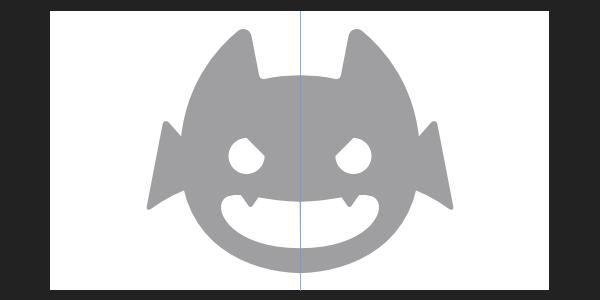 Affinity Designer: 半分描くだけで自動で左右対称のイラストを作る方法