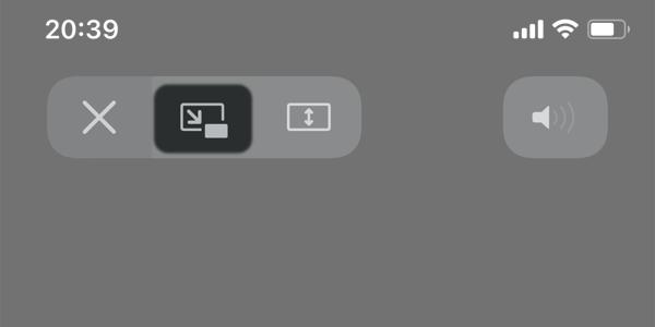 iPhone: 他のアプリを使いながら動画をワイプで見る