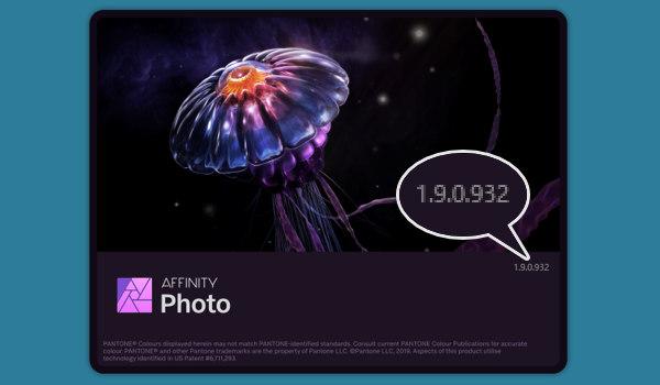 Affinity Photo のバージョン