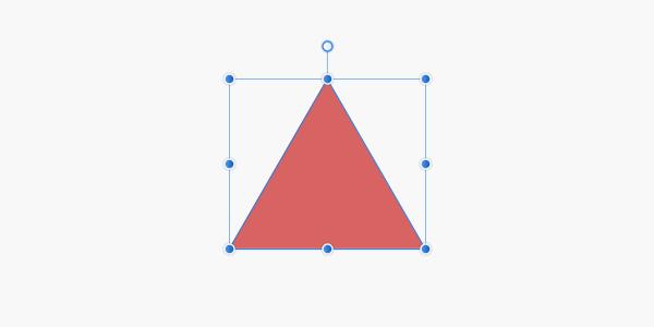 三角形レイヤーを作成
