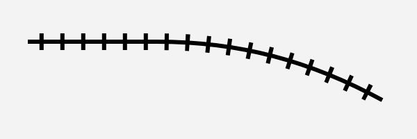 鉄道風のカーブ