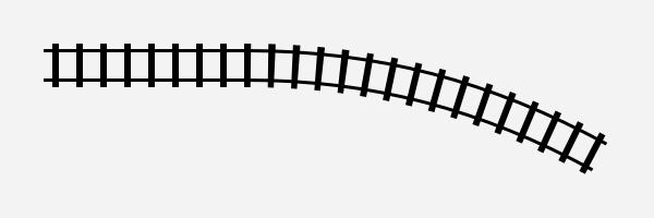 線路風のカーブ