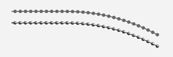 ボールチェーン風のカーブ
