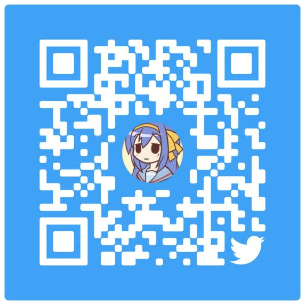 ツイッター @uminosachi_ のリンクを含む QRコード