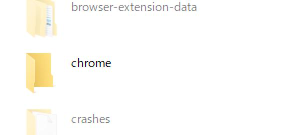 「Chrome」フォルダー