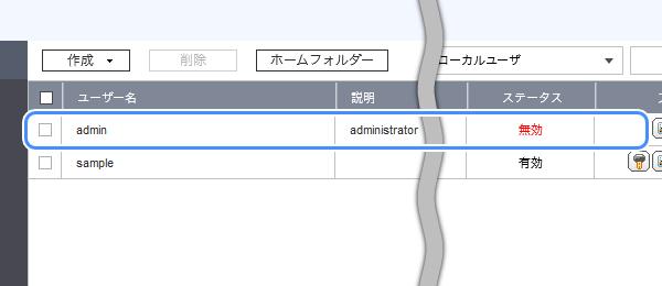 ユーザーの一覧