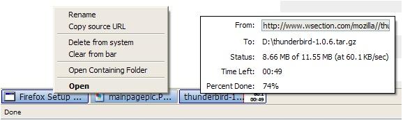 DownloadStatusbarSample
