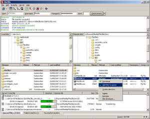 FileZilla操作画面サムネイル
