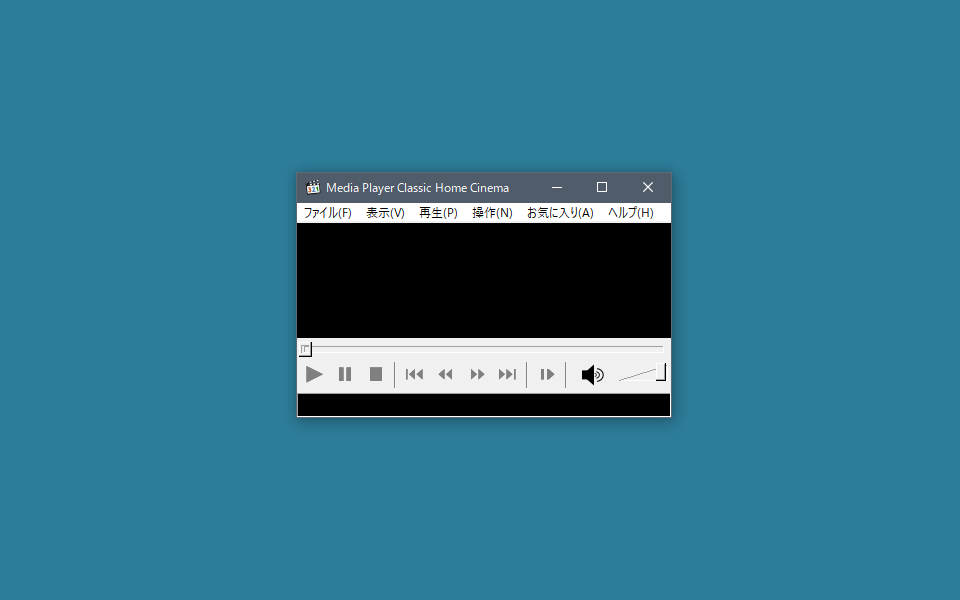 Media Player Classic Home Cinema ウィンドウサイズ 固定
