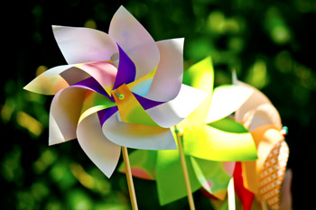 鮮やかな風車(かざぐるま)